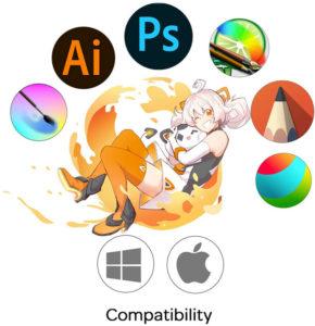 gaomon m10k compatibilité